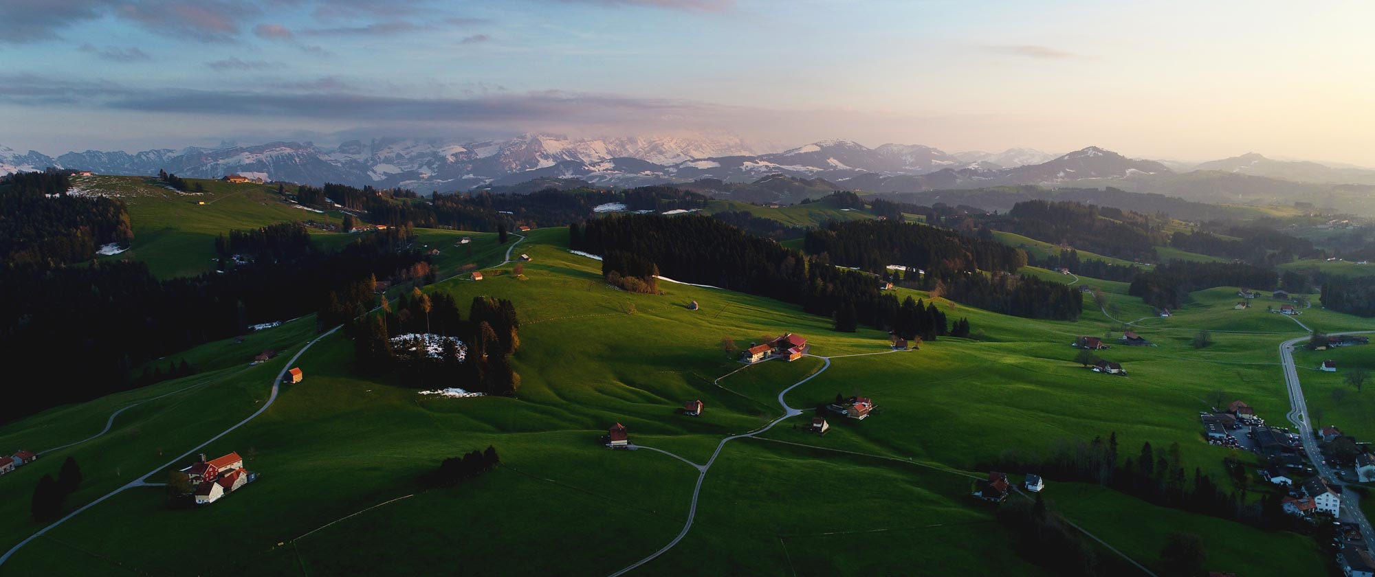 Speicher Landscape, Drohnen-Fotografie, Luftaufnahme
