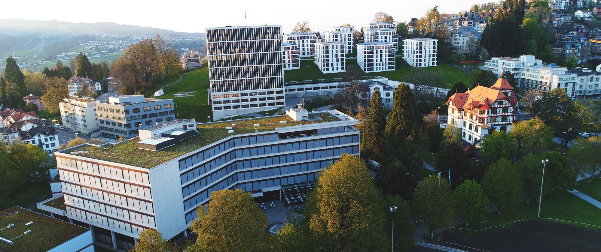 Drohnen Luftaufnahme KBZ St. Gallen